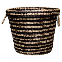 Kulatý koš Stripes black